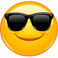 Emoticon con lentes